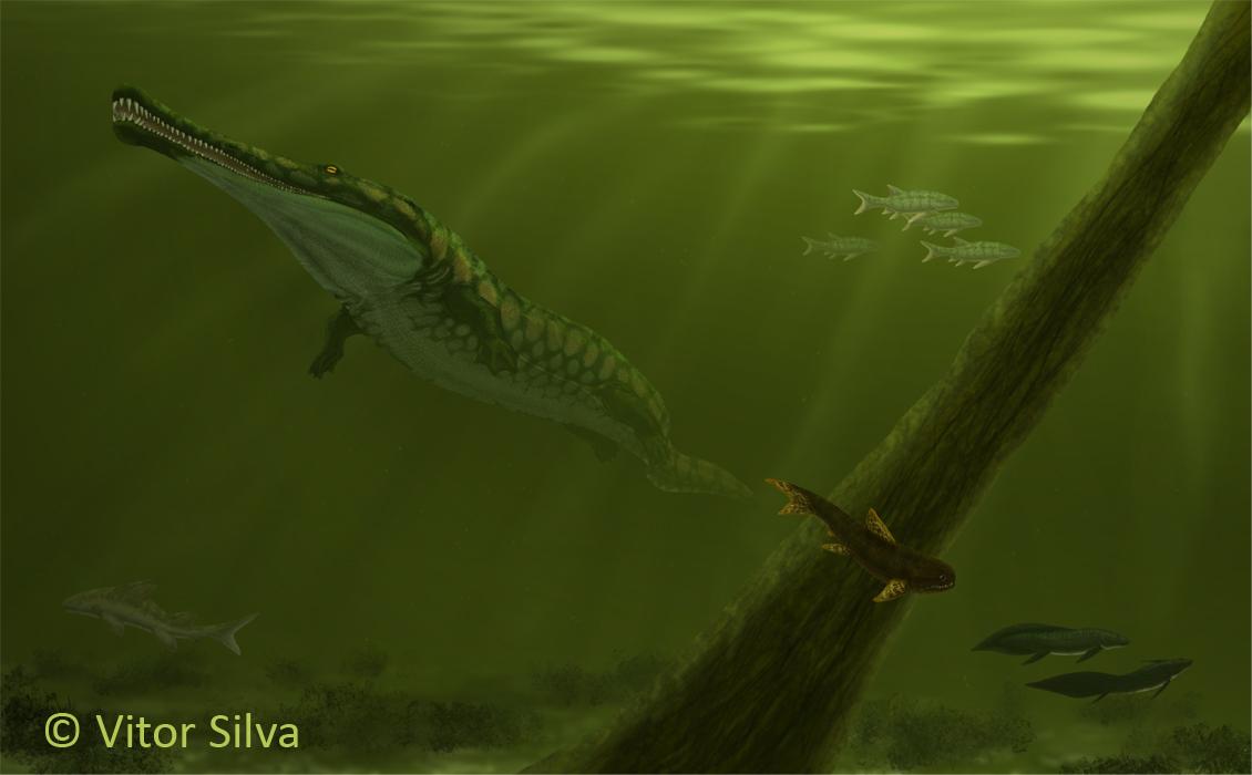Resultado de imagem para prionosuchus paleoart