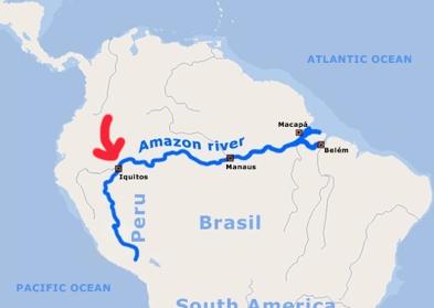 Amazon River Map